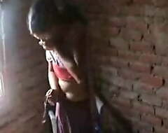 Desi village girlfriend affair, hard making out