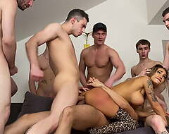 EIGHT Hawt Males FUCKED Lasting AND Sotted OFF MONICA Belial 4