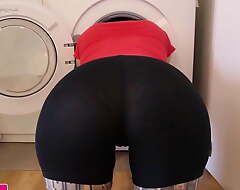 Obese Mamma MILF Stuck Beside Washing Gear and Fucked – Melody Radford