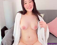 Barren polluted Korean girl with big tits