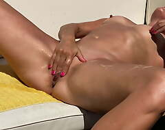 Tan Blonde Slut Fair and square to Strip and Squirt in Elevate d vomit