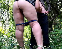 Magnificent outlander jizz-swapping outdoors and helping me spunk
