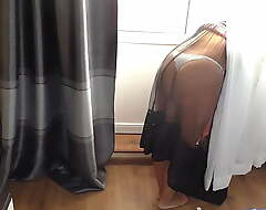I fucking mom in a big ass in a transparent robe