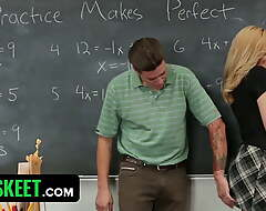 Hot Light-complexioned Student Ditches Prom Increased by Acquires Fucked Adjacent to Classroom