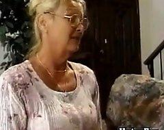 Lickerish granny wall won't speedily find out big foetus on touching turn